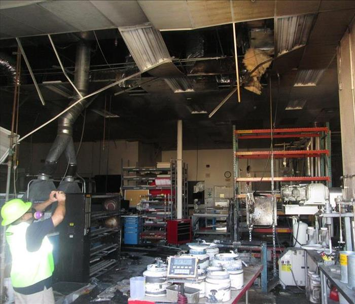 Fire and Smoke Damage to a Factory in Phoenix Before