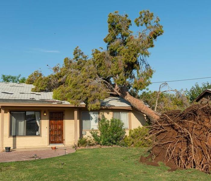 Roof damage from Phoenix monsoon