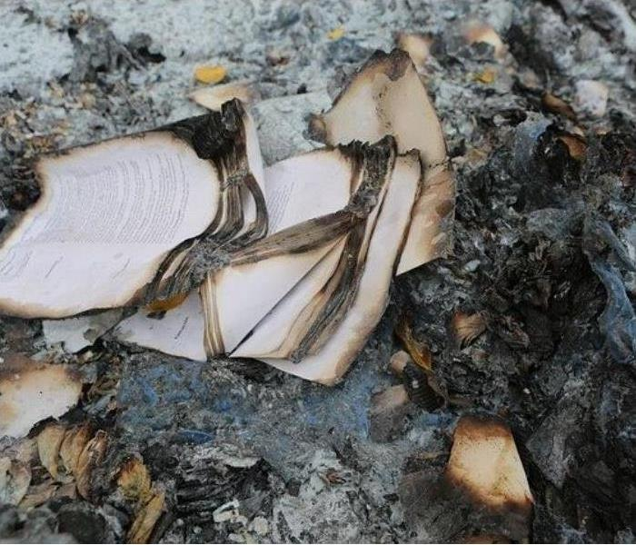 Documents damaged by fire